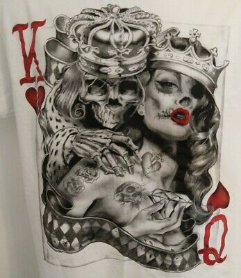 Poker Cards Skull Tatoo Come And Play Long Sleeve T-Shirt Neu All Sizes