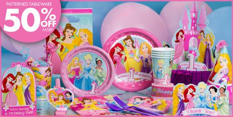 Disney Princess 1st Birthday Party Supplies Birthday Decorations