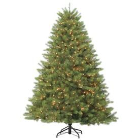 Holiday Living 7 5 Ft Douglas Fir Pre Lit Traditional Artificial Christmas Tree With 1200 Constant White Clear Incandescent Lights Lowes Com Incandescent Lights Artificial Christmas Tree Holiday