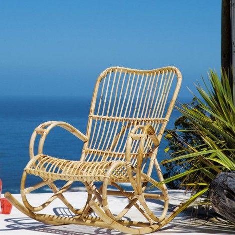 Mobiliers Et Objets De Jardin 2014 Nos Coups De Coeur Fauteuil A Bascule En Rotin Maison Du Monde Rocking Chair