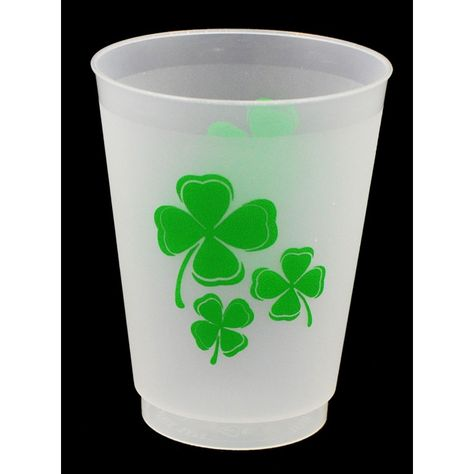 Green Shamrock Cups for St. Patrick's Day