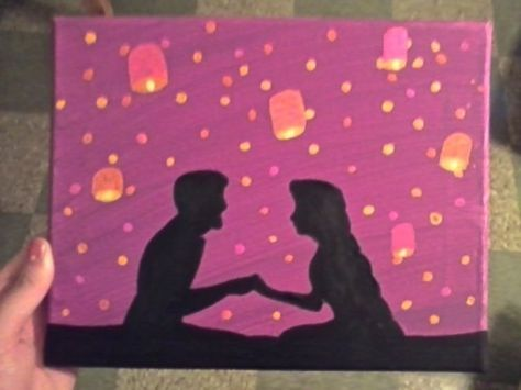 Painting Ideas Disney Canvases Movies 20 Ideas Disney Canvas Art Mini Canvas Art Small Canvas Art