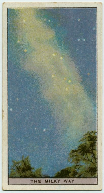 Cigarette card - Do you know what the Milky Way is? (ca. 1918-1943)