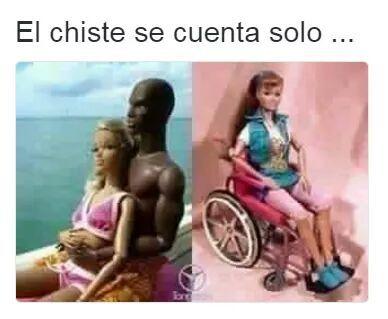 meme barbie en silla de ruedas