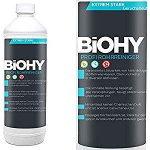 Biohy Rohrreiniger 1 Liter Flasche Flussig Abflussreiniger Der Rohrreiniger Fur Bad Dusche Badewanne Spulbecken Und Verstopf Rohre Verstopfte Abflusse Dusche