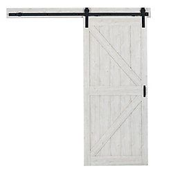 36 Inch X 84 Inch Bright White K Design Rustic Pre Drilled Barn Door Slab Interior Sliding Barn Doors Contemporary Barn Interior Barn Doors