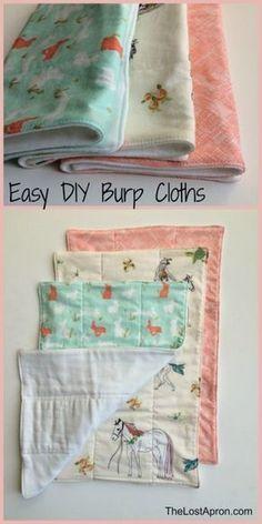 Baby shower gifts diy for girls homemade burp cloth tutorial ideas for 2019 Homemade Burp Cloths, Homemade Baby Gifts, Diy Baby Gifts, Baby Girl Gifts, Baby Crafts, Gift Crafts, Decor Crafts, Baby Burp Cloths, Baby Bibs