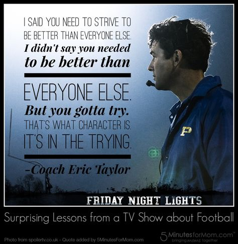 Surprising Lessons from a TV Show about Football  #Quote #FridayNightLights #Character