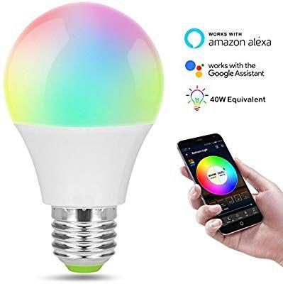 Amazon Com Smart Led Wifi Bulb Colour Changing Light Bulb With Socket Led Lamp Adapter Compatible With Alex Color Changing Light Bulb Smart Light Bulbs Bulb