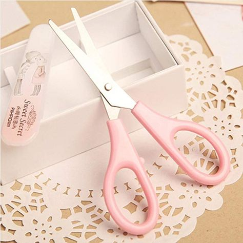 Wivily DIY Resin Craft Scissors Cute Kawaii Scrapbooking Scissors Home School Supplies