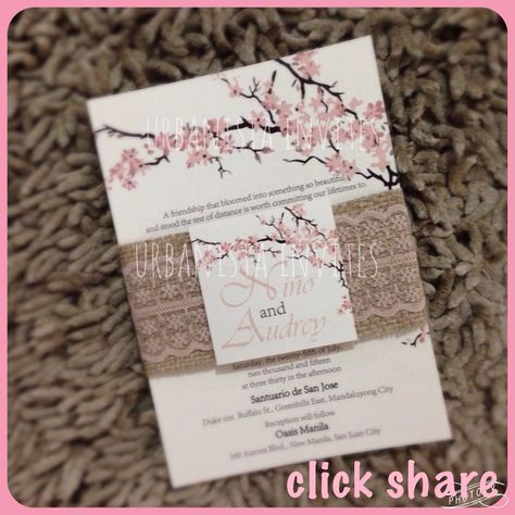 Order this beautiful#cherryblossominvitationGot any questions? inquiry.urbanistainvites@gmail.com   #urbanistainvites #invitationsph #wedding #urbanistainvitations #invitationph #engagement #followme #prenup #weddinginvitationsph #weddinginvitationph #philippineweddings #weddingph #philippinewedding #weddingsmanila #weddingsph  #philippinebride #manilawedding #debut #manilaweddings #weddingsupplierph #weddingsuppliersph #weddingprep #bride #weddingexpophilippines