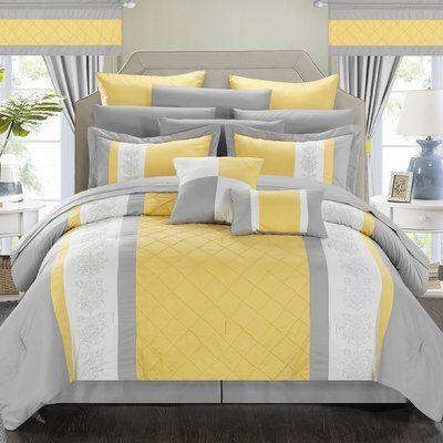 Wrought Studio Haworth 24 Piece Comforter Set Size Queen Colour