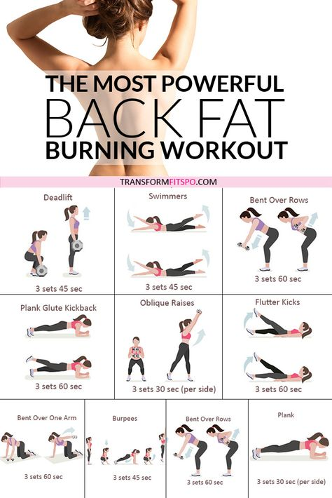 🏆Most Powerful Back Fat Burning Workout! When You See The Results, You'll Be AMAZED.