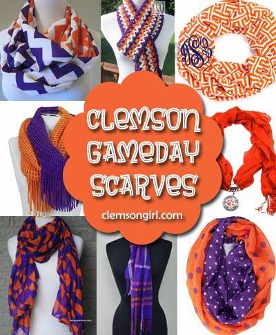 Clemson Girl - Clemson #gameday scarves, great #gift idea for any #Clemson girl! #orange #purple #scarf #Christmas