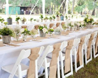 These Burlap Chair Sashes Are A Great Way To Dress Up Simple Garden