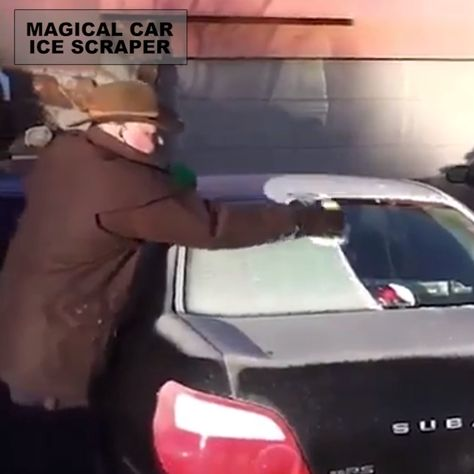 This Magical Car Ice Scraper is a ingeniously designed ice scraper and snow remover that's cone shaped, so you can simply move it in any direction or in circles to remove more snow from your car at a time.