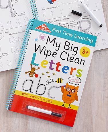 My Big Wipe Clean Letters Or Numbers Books Cleaning Wipes Simple Math Book Letters