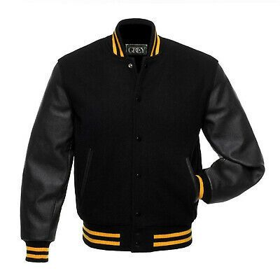 Grey Varsity Baseball Letterman Stylish Jacket Banu Wool In 2020 Leather Sleeve Jacket Leather Jacket Men Wool Bomber Jacket
