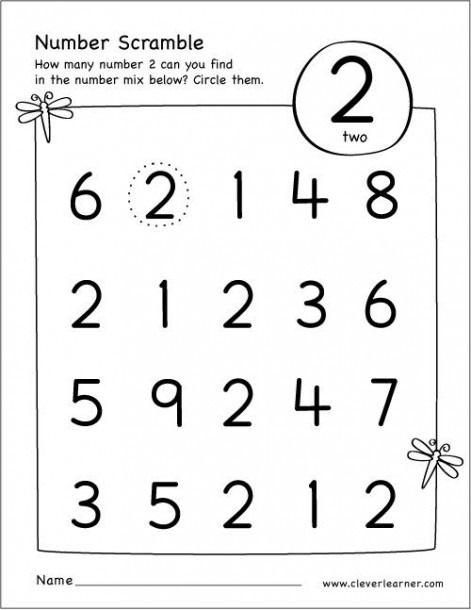 Find The Number 1 Worksheet Preschool Number Worksheets Numbers Preschool Preschool Math Worksheets