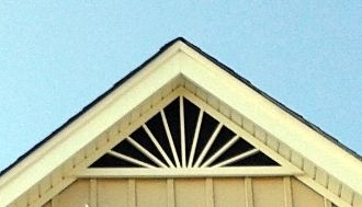5 12 Pitch Sunburst 24 X 5 Triangle Gable Vent 1 Gable Vents Exterior Decor House Exterior