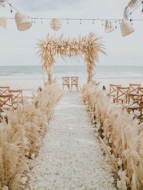 This Beachy Boho Wedding at Sanctuary Ho Tram is Like a Royal Mermaid Affair (Junebug Weddings) Boho Beach Wedding, Hipster Wedding, Beach Wedding Inspiration, Mermaid Wedding, Rustic Wedding, Dream Wedding, Wedding Dreams, Lace Wedding, Wedding Rings