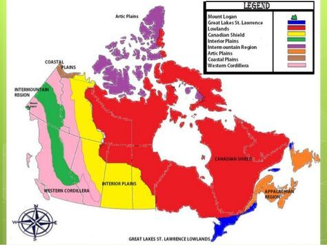 Physical and Politcal Regions of Canada and it\'s People ...