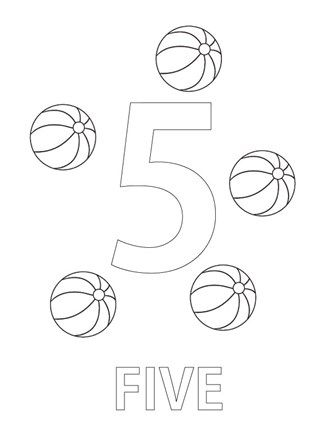 Number Five Coloring Page Coloring Page Coloring Pages Colorful Pictures Printable Coloring Sheets