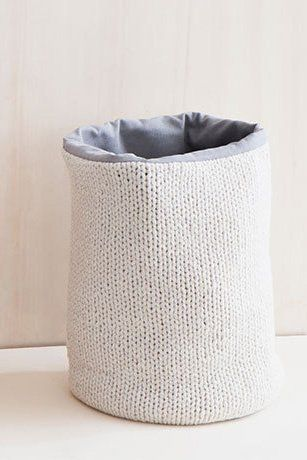Knitted Laundry Hamper Natural White White Laundry Basket Toy