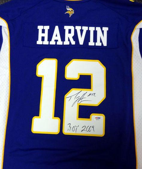 ... Percy Harvin Autographed Minnesota Vikings Purple Nike Jersey ... c9e4683a0
