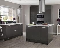 Greenwich Gloss Graphite Kitchen Range | Kitchen Families | Howdens Joinery