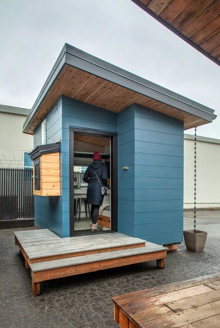 These Tiny Home Inspired Sleeping Pods Provide Shelter For Portland S Homeless Women Portland Monthly In 2021 Sleeping Pods Homeless Shelter Design Shelter Design