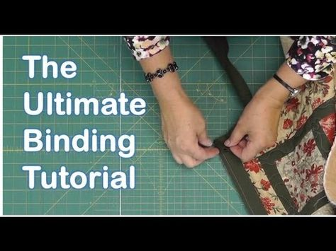 ▶ The Ultimate Quilt Binding Tutorial - YouTube  Watch at 9:20 how to sew the two ends of the binding together