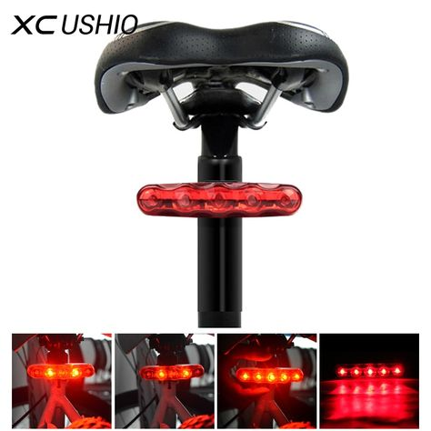 New Waterproof 5 LED 3 Mode Cycling Bicycle Bike Safety Rear Tail Lamp Light