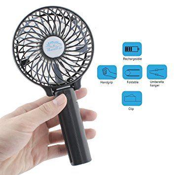 Wooboo Rechargeable Usb Fan Portable Handheld Mini Fan Battery