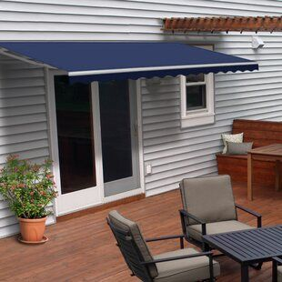 Freeport Park Alvin 6 5 Ft W X 3 Ft D Polycarbonate Standard Door Awning Wayfair In 2020 Patio Awning Patio Door Awnings
