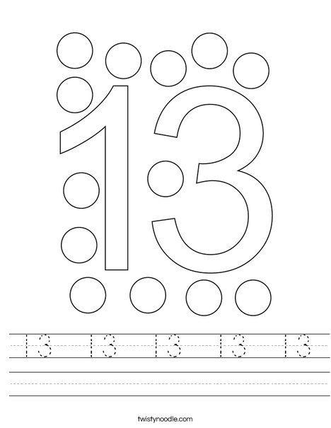 13 13 13 13 13 Worksheet Twisty Noodle In 2020 Preschool Tracing Homeschool Preschool Curriculum Preschool Learning Activities