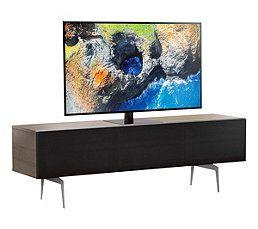 Meuble Tv L 160 Cm Canberra Bois Clair Noir En 2020 Meuble Tv Meuble Et Meuble Tv Rangement