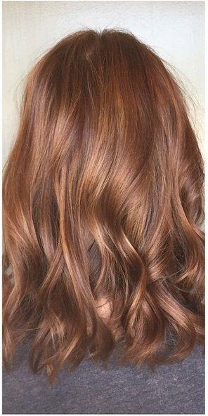 gorgeous auburn brunette hair color idea