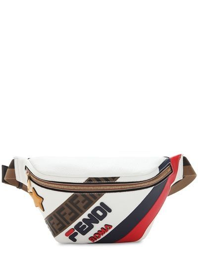 df6594aaf1fde FENDI, Fendi mania roma leather belt bag, White/blue, Luisaviaroma ...