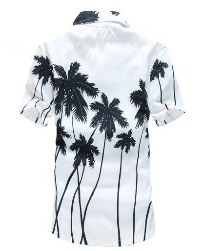 Men/'s Hawaiian Printed Beach Shirts