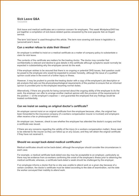 medical certificate for leave absence lease template vacation - medical certificate from doctor