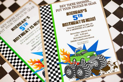 MONSTER Truck Invitation  Monster Truck by AmandasPartiesToGo, $14.00