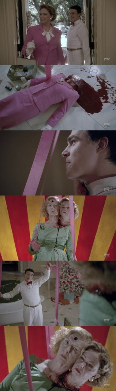 'Now your my puppet mother' American Horror Story: Freak Show.  I don't  know why i am even shocked anymore. This is normal for this show.