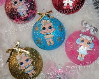Lol Surprise Ornaments Colored Glitter Christmas Craft Show Girly Christmas Tree Christmas Crafts Decorations