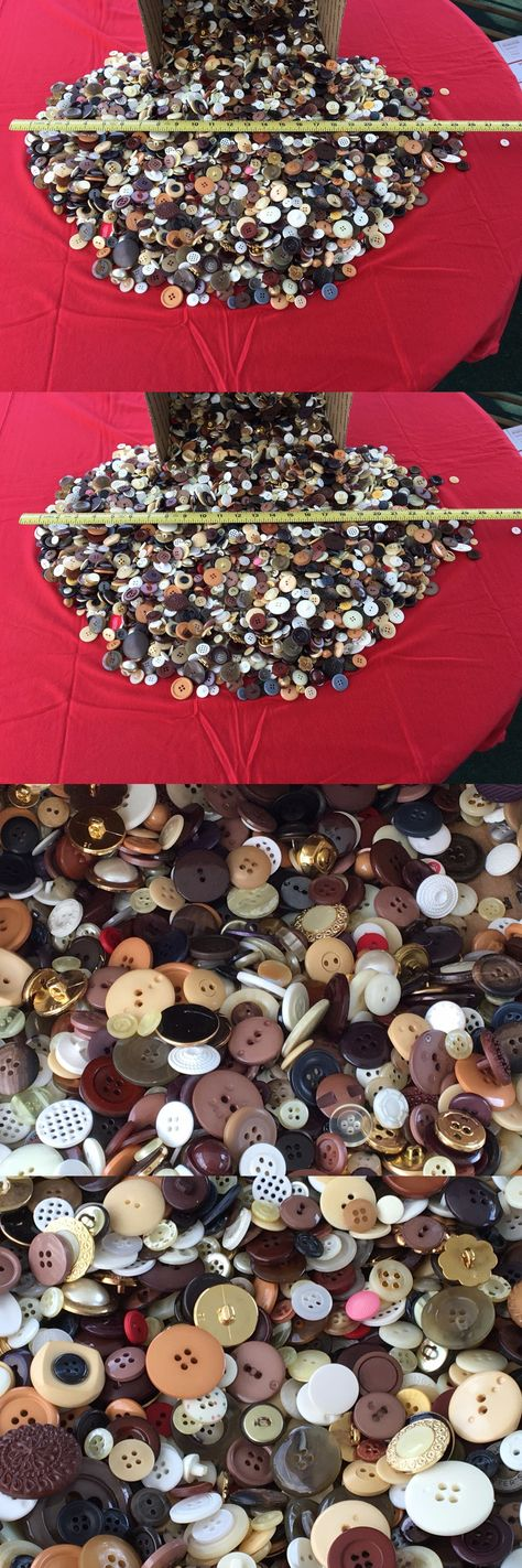 Buttons 7320: Huge 10+Lb Lot Of Vintage Buttons. Big Assorment Great For Crafts Or Just Sewing -> BUY IT NOW ONLY: $49.99 on eBay!