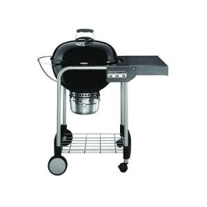 Weber 22 In Original Kettle Premium Charcoal Grill In Black With Built In Thermometer 14401001 Charcoal Grill Charcoal Bbq Weber Charcoal Grill