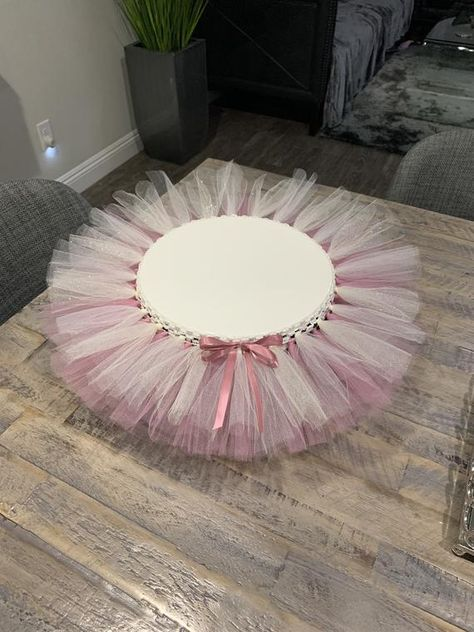 Pink and ivory sparkle tutu. Baby Shower Cakes, Baby Shower Parties, Baby Showers, Bridal Showers, Girl Baby Shower Decorations, Wedding Decorations, Diaper Cake Centerpieces, Baby Shower Table Centerpieces, Tutu Cakes
