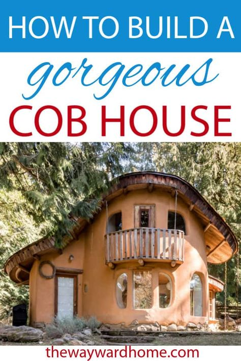 Have you ever thought about building a cob house? An eco friendly, cost effective cob house could be your perfect home! Cob Building, Building A House, Building Ideas, Build Your House, White Building, Green Building, What Is Cob, Cob House Plans, Unusual Homes