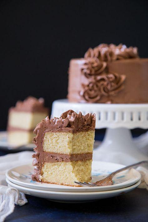 Brilliant Homemade Vanilla Cake Recipe Homemade Vanilla Cake Vanilla Personalised Birthday Cards Xaembasilily Jamesorg