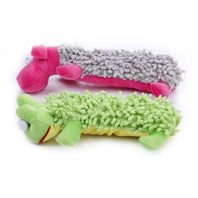 Wholesale Dog Toys Sound Plush Toys Mop Plush Frog Hippo Pet Toys